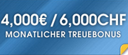 4.000 Euro Bonus monatlich bei William Hill