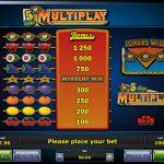 5 Line Multiplay Gewinne