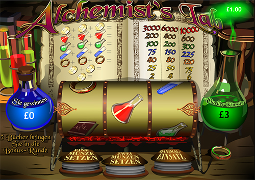 alchemists lab single-line online slot
