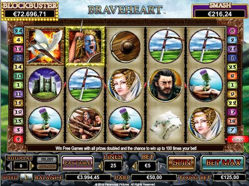 online slot braveheart im intercasino