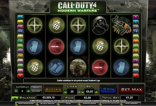 call of duty 4 online slot im intercasino