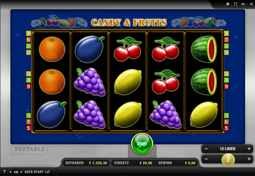 candy and fruits online slot von merkur