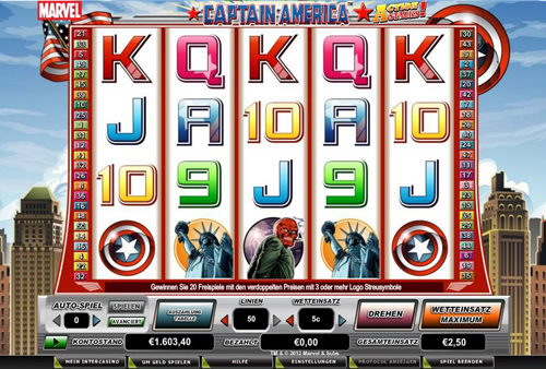 online slot captain america action stacks im intercasino