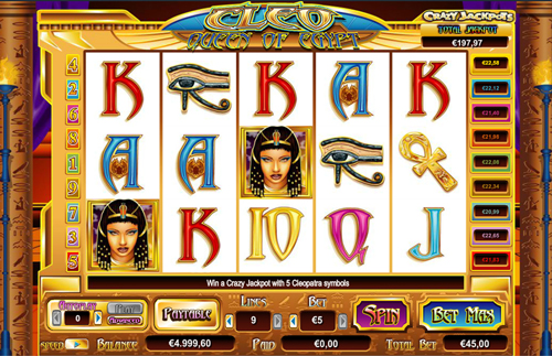 online slot cleo im inter casino