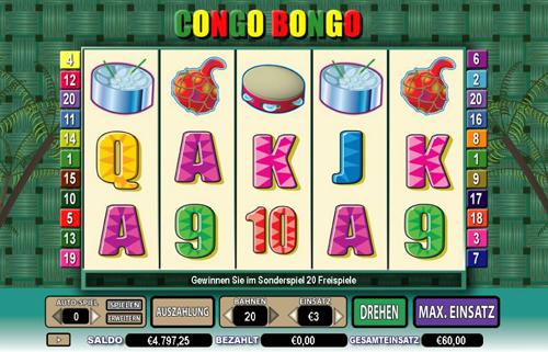 online slot congo bongo im intercasino