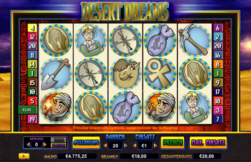 online slot desert dreams im intercasino