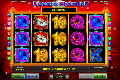 diamonds of fortune spielen