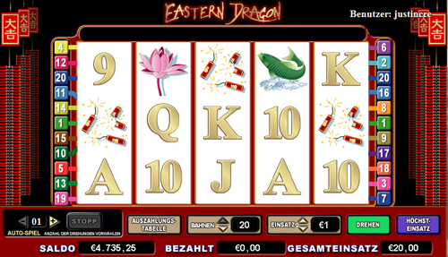 online slot eastern dragon im intercasino spielen