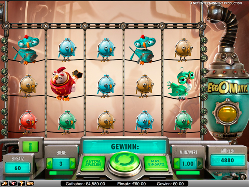 Spiele den Eggomatic Slot bei Casumo.com