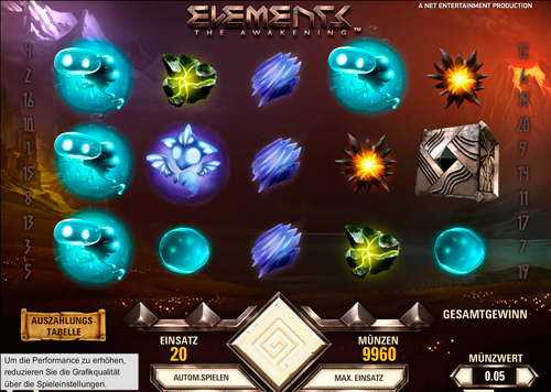 Vibrerande atmosfär i Elements Of Awakening slot