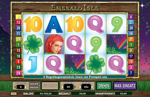 emerald isle online slot im intercasino