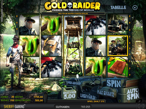 gold raider online slot in full hd