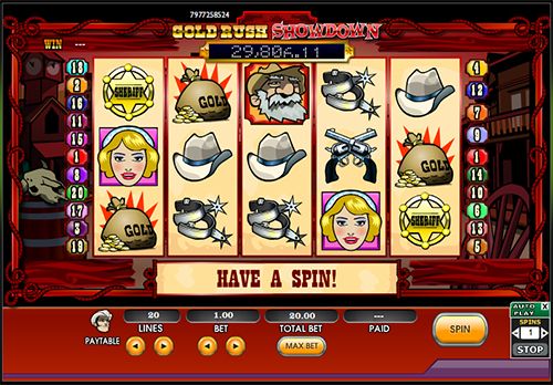 gold rush showdown online slot im 888 casino