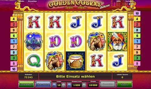 Golden Cobras Slot - Spielen Sie dieses Spiel gratis online