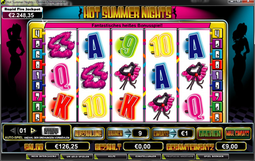 hot summer nights online slot im intercasino