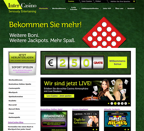 das online casino intercasino