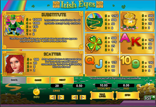 irish eyes online slot im 888 casino