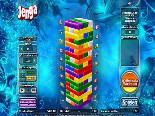 Jenga Casino Spiel
