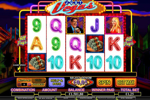 online slot just vegas im intercasino