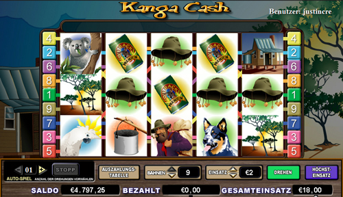 online slot kanga cash im intercasino