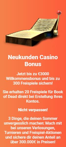 Leo Vegas Casino Willkommensbonus