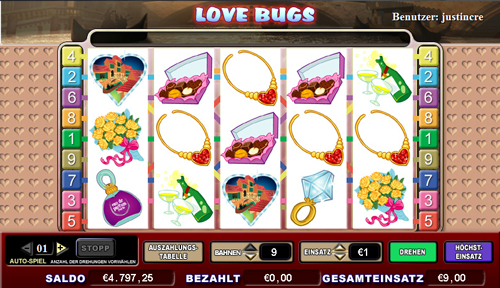 online slot love bugs im intercasino