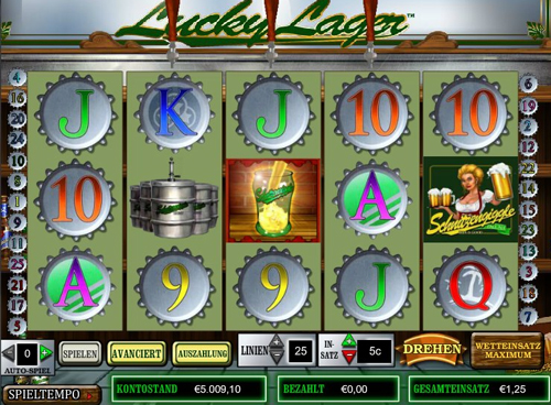lucky lager online slot im intercasino