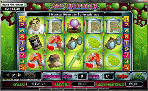 mad professor online slot im intercasino