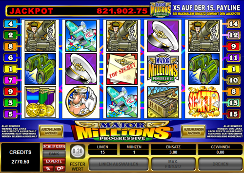 major millions online slot im spinpalace casino