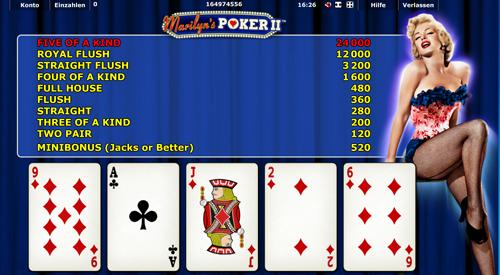 marilyns poker ii spielen
