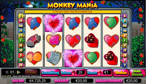 online slot monkey mania im intercasino