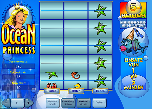 multispin online slot ocean princess im william hill casino
