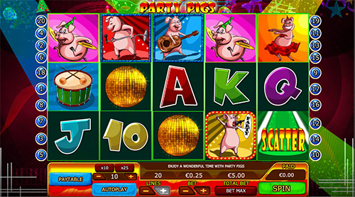online slot party pigs im 888 casino