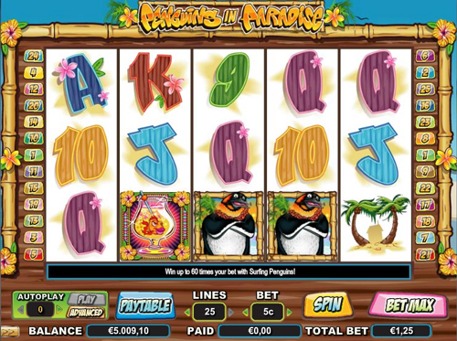 penguins in paradise online slot im intercasino