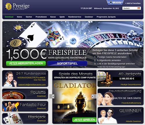 prestige online casino