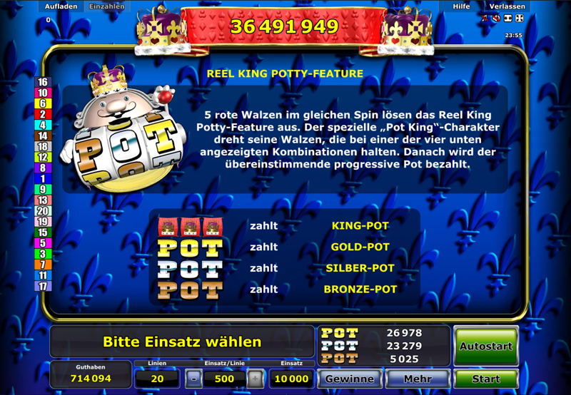 reel king potty spielen