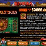 Riviera Riches Roulette Bonus