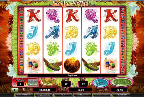 online slot samba nights im intercasino