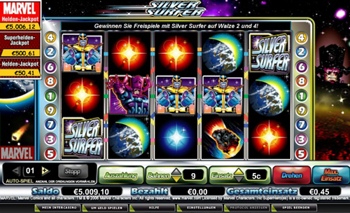 online slot silver surfer im intercasino