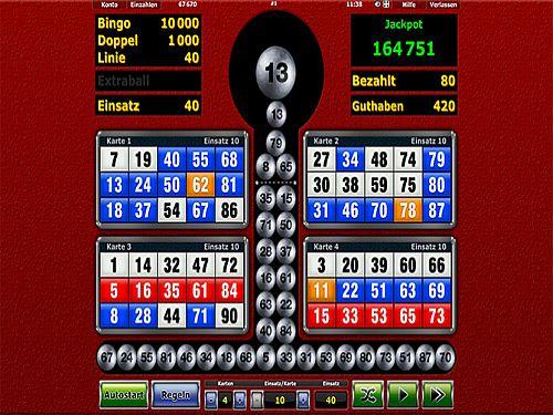 Silverball Bingo bei Novoline