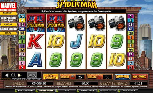 spider man online slot im intercasino