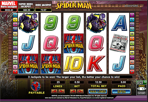 spider man online slot im 888 casino