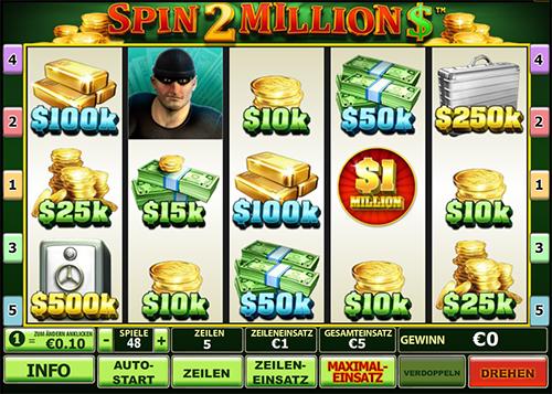 spin 2 millions online slot im eurogrand casino