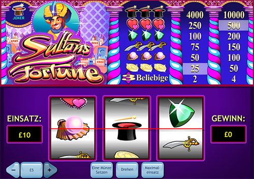 online slot sultans fortune im william hill casino