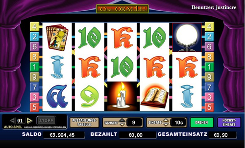the oracle online slot im intercasino