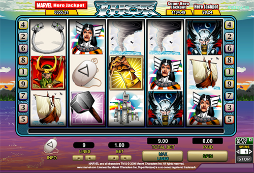 marvel online slot thor im 888 casino