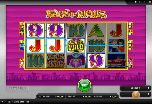 wags to riches online slot im sunmaker casino