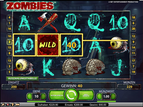Zombies online Slot im Mr Green Casino